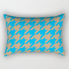 Houndstooth (Brown and Blue) Rectangular Pillow
