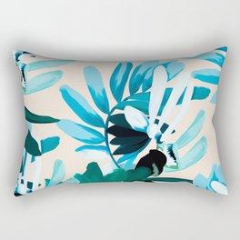 Big leaves blue Rectangular Pillow