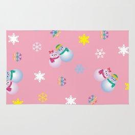 Snowflakes & Pair Snowman_B Rug