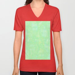 Re-Created SquaresXXVI  by Robert S. Lee Unisex V-Neck