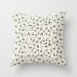 Mixed Signals Pattern in Oat Throw Pillow