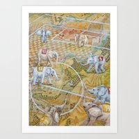 football Art Prints featuring Football by Ruta13