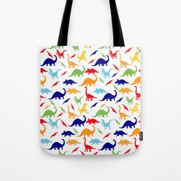 Colorful Dinosaurs Pattern Tote Bag
