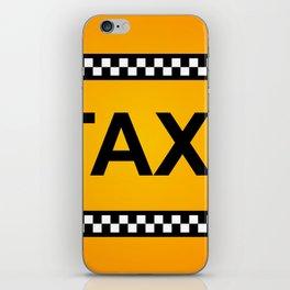 TAXI Sign iPhone Skin