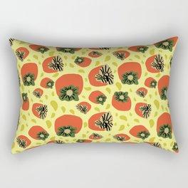 Trippy yellow persimmons Rectangular Pillow