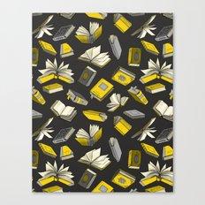 Spellbooks, Yellow Canvas Print