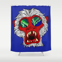 "arctic monkeys Shower Curtains featuring ""Arctic Monkey"" by Virginia McCarthy by Consequence of Sound"