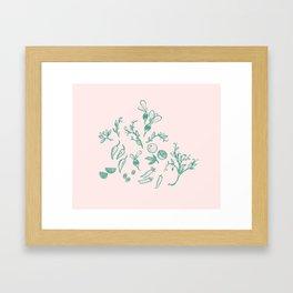 Spring Time Fresh Garden vegetables Framed Art Print