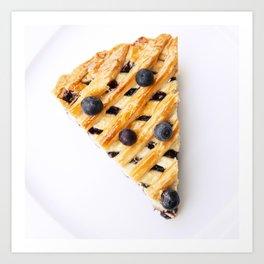 Blueberry Pie Art Print