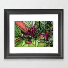 Pink and Green Glass Framed Art Print