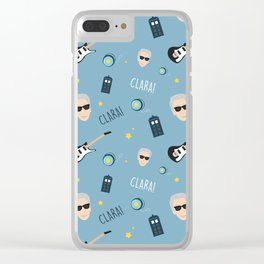 Twelve Doctor Who pattern Clear iPhone Case