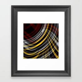 Hyper Plaid Framed Art Print