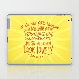 Roald Dahl on Positive Thinking Laptop & iPad Skin