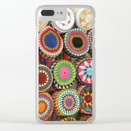 Bright Colored Hats in Cairo Egypt Market Clear iPhone Case