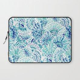 FAN OUT PLAN OUT Blue Coastal Print Laptop Sleeve