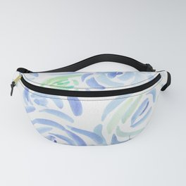 1  |  190411 Flower Abstract Watercolour Painting Fanny Pack