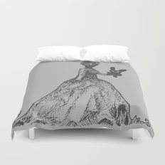 The Black Bunny of Doom and his Date Duvet Cover