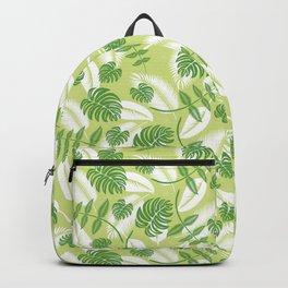 Fresh Tropical Palm Leaf Backpack