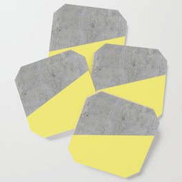 Concrete and Yellow Color Coaster