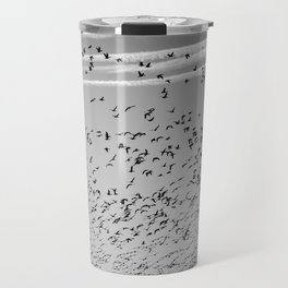The Birds (Black and White) Travel Mug