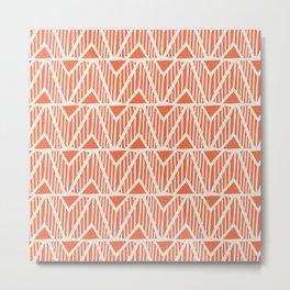 mala, african tribal pattern orange Metal Print