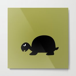 Angry Animals: Tortoise Metal Print