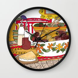 Healthy Eating Time Wall Clock
