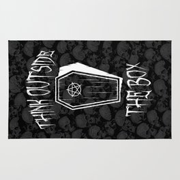 Think Outside The Box Goth Coffin Humour Rug