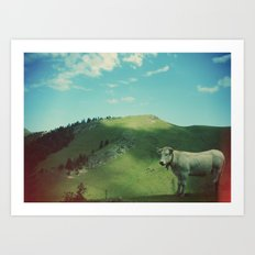 Mountain cow Art Print