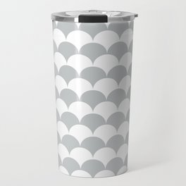 Light Fan Shell Pattern Travel Mug