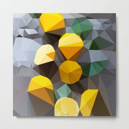 lemonade abstract geometrical art Metal Print