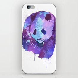 Watercolor Panda in Purple iPhone Skin