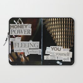 Money for Power Print Laptop Sleeve