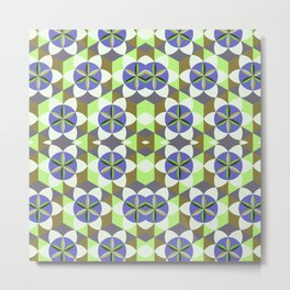 FLOWER OF LIFE GEOMETRIC PATTERN Metal Print