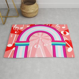 Musical Notes Archway Rug