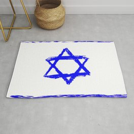 flag of israel 9- יִשְׂרָאֵל ,israeli,Herzl,Jerusalem,Hebrew,Judaism,jew,David,Salomon. Rug
