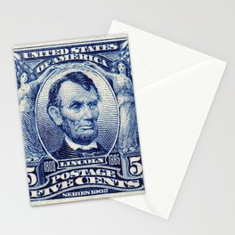 Abraham Lincoln Postage Stamp Stationery Cards