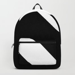 Oblique black and white 2 Backpack