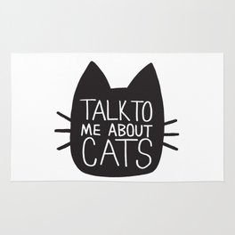 Talk to Me About Cats Rug
