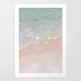 Surf yoga Art Print
