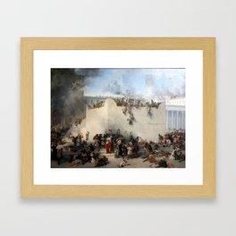 Destruction of the jewish temple in Jerusalem Framed Art Print