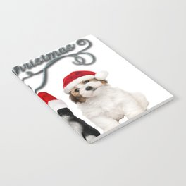 Funny Christmas Cats and Dogs T-Shirt Notebook