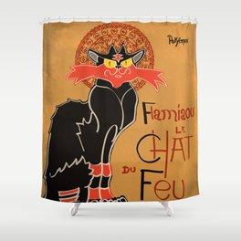 Le Chat du Feu Shower Curtain