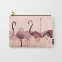 Summer Flamingos Carry-All Pouch
