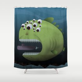 Giant Mutant Fish Shower Curtain