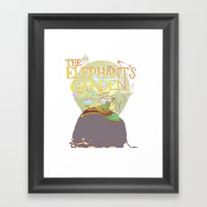 The Elephant's Garden - Version 2 Framed Art Print