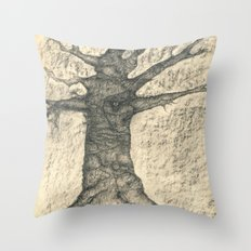 The old tree Throw Pillow