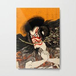 Kabuki Dancer 1864 Metal Print