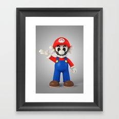 Skull Mario Framed Art Print