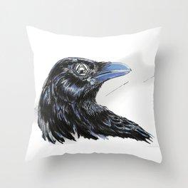 RHX Raven Logo Throw Pillow